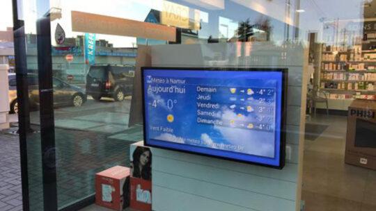 Le placement d'un écran d'affichage dynamique